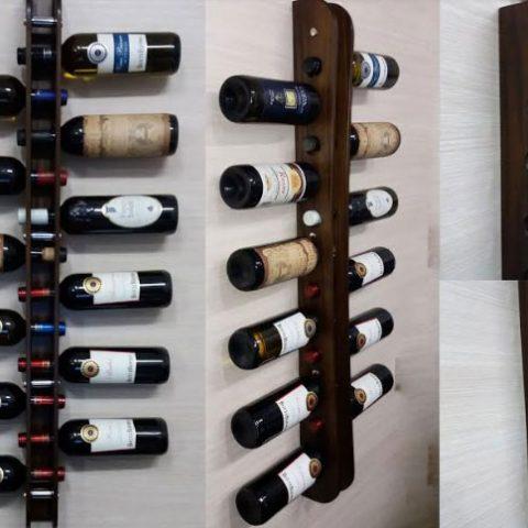 Nuovaeuro porta bottiglia in legno 12 bottiglie vino cantinetta a muro - Porta bottiglie ...