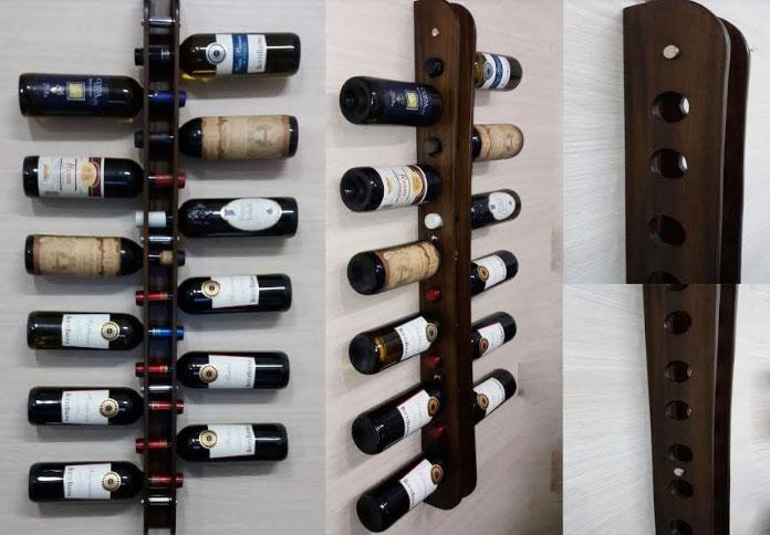 Nuovaeuro porta bottiglia in legno 12 bottiglie vino for Porta bottiglie vino