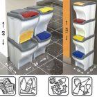 Lgv pattumiera raccolta differenziata poker 4 pezzi Bama secchio spazzatura rifiuti