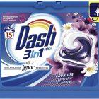Dash Pods 3 in 1 Detersivo in Monodosi Lavanda, 6Le dash pods con un tocco di lenor sono l'ultima innovazione di dash e lasciano sui capi una freschezza straordinaria al profumo di lavanda. I 3 diversi scomparti puliscono a fondo, aiutano a rimuovere le macchie e donano brillantezza ai tessuti. Le dash pods sono vendute in confezioni singole che contengono già il giusto dosaggio per donare brillantezza al bucato in una soluzione pratica. Le dash pods renderanno i capi bianchi che più bianchi non si può, con risultati di brillantezza impeccabili. x 15 Lavaggi, Rimozione delle Macchie ed Alto Potere Pulente