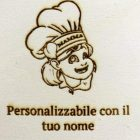 Euroshoppingonline Madia Maddia maidda siciliana in Legno lamellare Personalizzabile con Nome Foto CM: 50x40x20h  (Cuoca Pizza con Nome a Scelta)