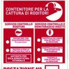 Cartello segnalatore Punto Esca per Topi ratti Insetti Servizi di derattizzazione