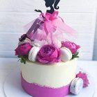 Topper per Torta Ragazza sagoma Decorativa Corona Regina 23x23 cm 650414594734