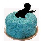 Topper per Torta Bambino Neonato Decorativa 23x23 cm 8057432906440